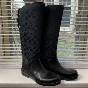 Coach Black Rain Boots